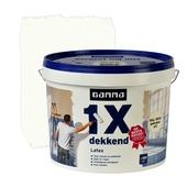 GAMMA latex 1x dekkend RAL 9010 gebroken wit mat 10 liter