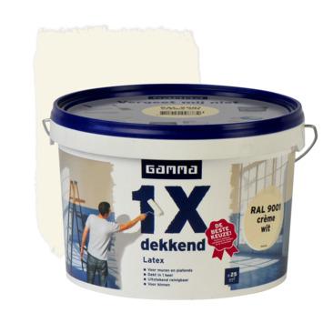 GAMMA latex 1x dekkend RAL 9001 crème wit mat 2,5 liter