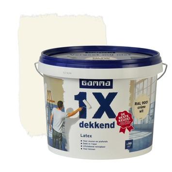 GAMMA latex 1x dekkend RAL 9001 crème wit mat 5 liter