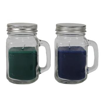 Kaars in glas 2 stuks