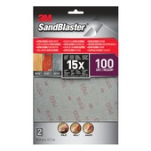 3M Sandblaster Ultraflex schuursheets K100 middel 2 stuks