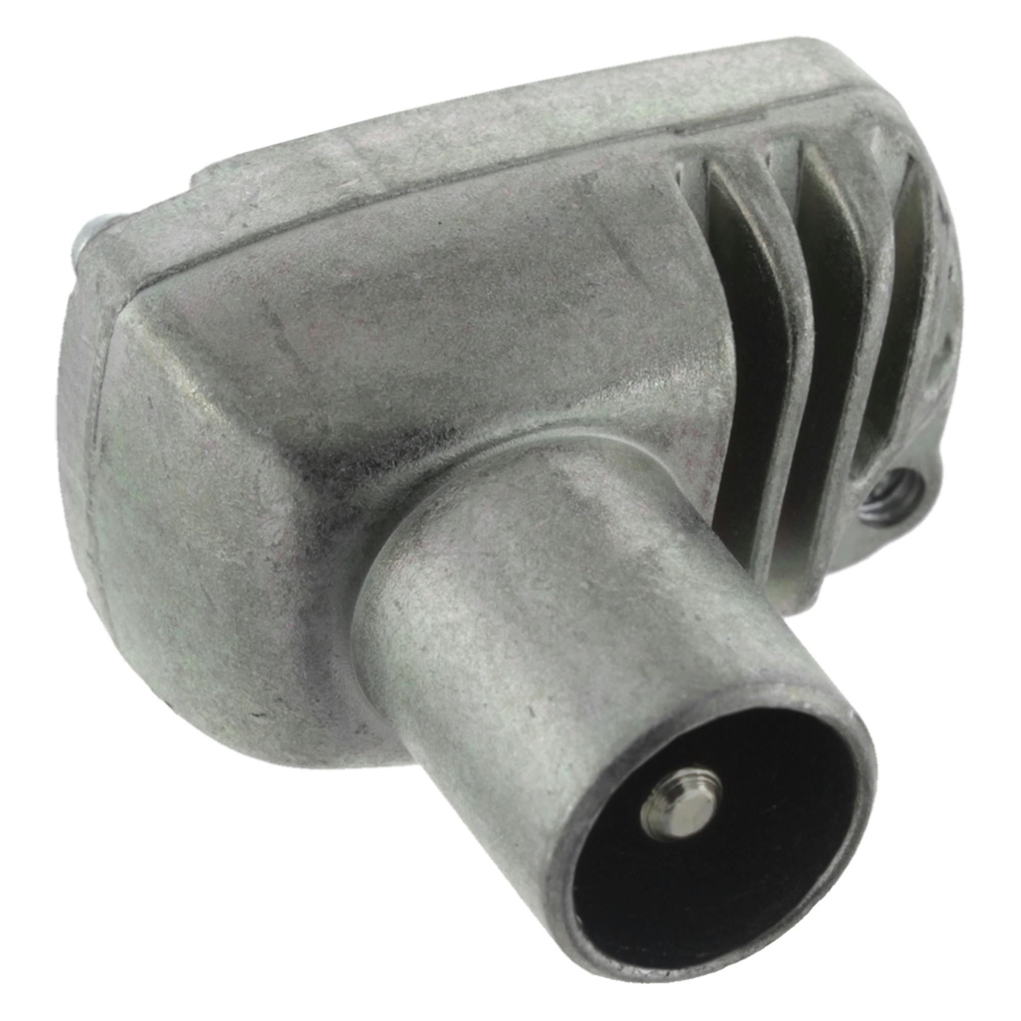 Q-Link coax stekker metaal haaks male kabelkeur