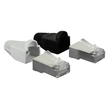 Q-Link FTP connector RJ45 met hoesje 8 stuks KPN keur