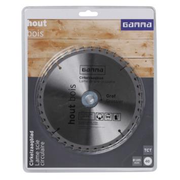 GAMMA cirkelzaagblad   40t 185x16mm