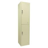 Locker 2-deurs créme 180x40x42 cm