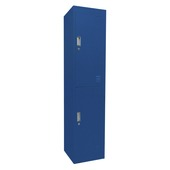 Locker 2-deurs blauw 180x40x42 cm