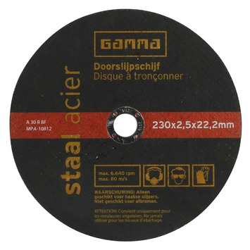 GAMMA doorslijpschijf  230mm 2.5mm staal