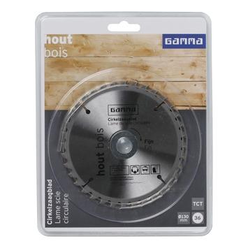 GAMMA cirkelzaagblad   36t 130x16mm