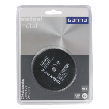 GAMMA cirkelzaagblad   80t hss 85x10mm