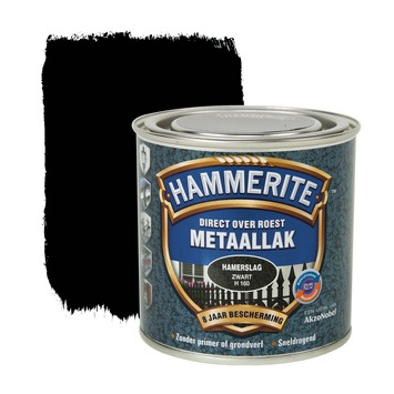 Hammerite metaallak zwart hamerslag 250 ml