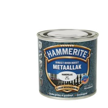 Hammerite metaallak wit hamerslag 250 ml