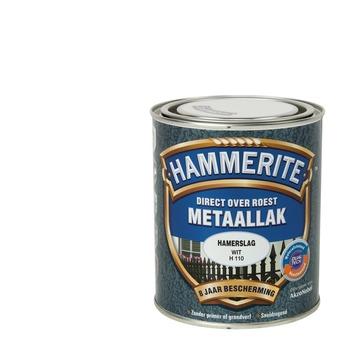 Hammerite metaallak wit hamerslag 750 ml