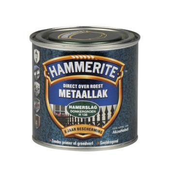 Hammerite metaallak donkergroen hamerslag 250 ml