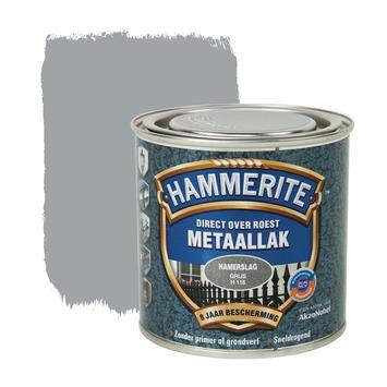 Hammerite metaallak grijs hamerslag 250 ml