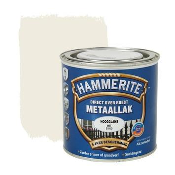 Hammerite metaallak wit hoogglans 250 ml