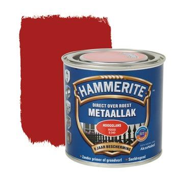 Hammerite metaallak rood hoogglans 250 ml