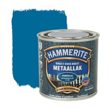 Hammerite metaallak donkerblauw hamerslag 250 ml