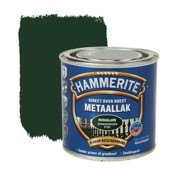 Hammerite metaallak donkergroen hoogglans 250 ml