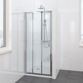 Bruynzeel Lino schuifdeur 3-delig chroom 100x195 cm