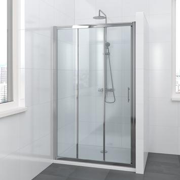Bruynzeel Lino schuifdeur 3-delig chroom 120x195 cm