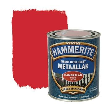 Hammerite metaallak rood hamerslag 750 ml