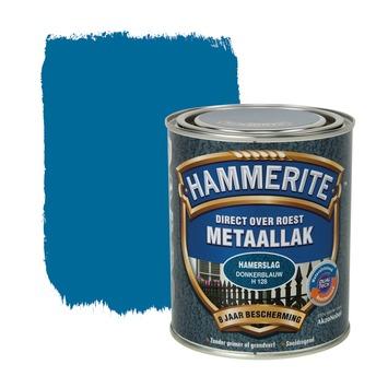 Hammerite metaallak donkerblauw hamerslag 750 ml