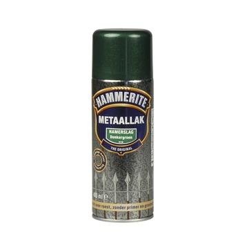 Hammerite metaallak spuitbus donkergroen hamerslag 400 ml