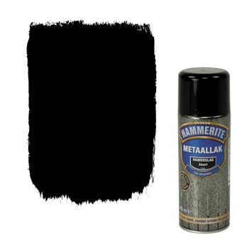 Hammerite metaallak spuitbus zwart hamerslag 400 ml