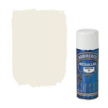 Hammerite metaallak spuitbus wit hoogglans 400 ml