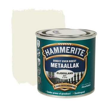 Hammerite metaallak wit zijdeglans 250 ml