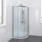 Bruynzeel Lino douchecabine kwartrond chroom 90x195 cm