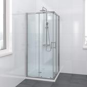 Bruynzeel Lino douchecabine hoekinstap chroom 90x195 cm