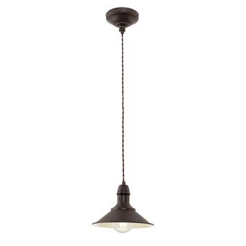 EGLO hanglamp Stockbury bruin