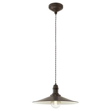 Hanglamp Stockbury E27 bruin