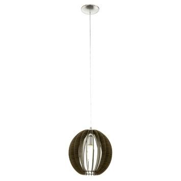 EGLO hanglamp Cossano Ø300 mm bruin