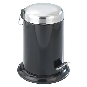 Wenko Pedaalemmer Retoro RVS/Zwart 3 Liter