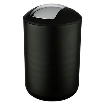 Wenko Prullenbak Brasil Zwart 6,5 Liter