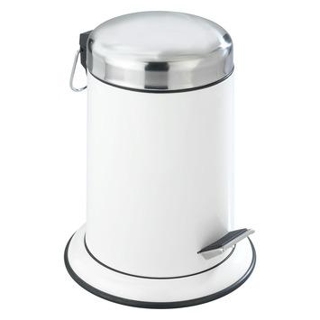 Wenko Pedaalemmer Retoro RVS/Wit 3 Liter