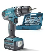 Makita accuklopboormachine HP347DX100 14,4V + 74-delige accessoireset