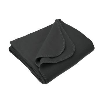 Carpoint fleece deken zwart