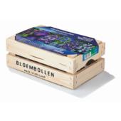 Bloembollen in houten kist blauw 100 stuks