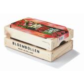 Bloembollen in houten kist rood en wit 100 stuks