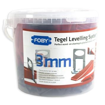 Foby levelling systeem starterskit 3 mm met clips, spieën en tang