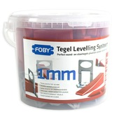 Foby levelling systeem starterskit 1 mm met clips, spieën en tang