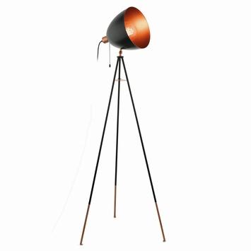 Vloerlamp Chester E27 60W zwart