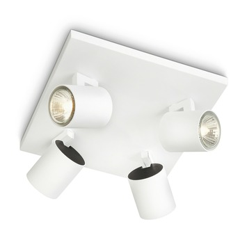 Philips Opbouwspot MyLiving Runner Wit 4 x 50W