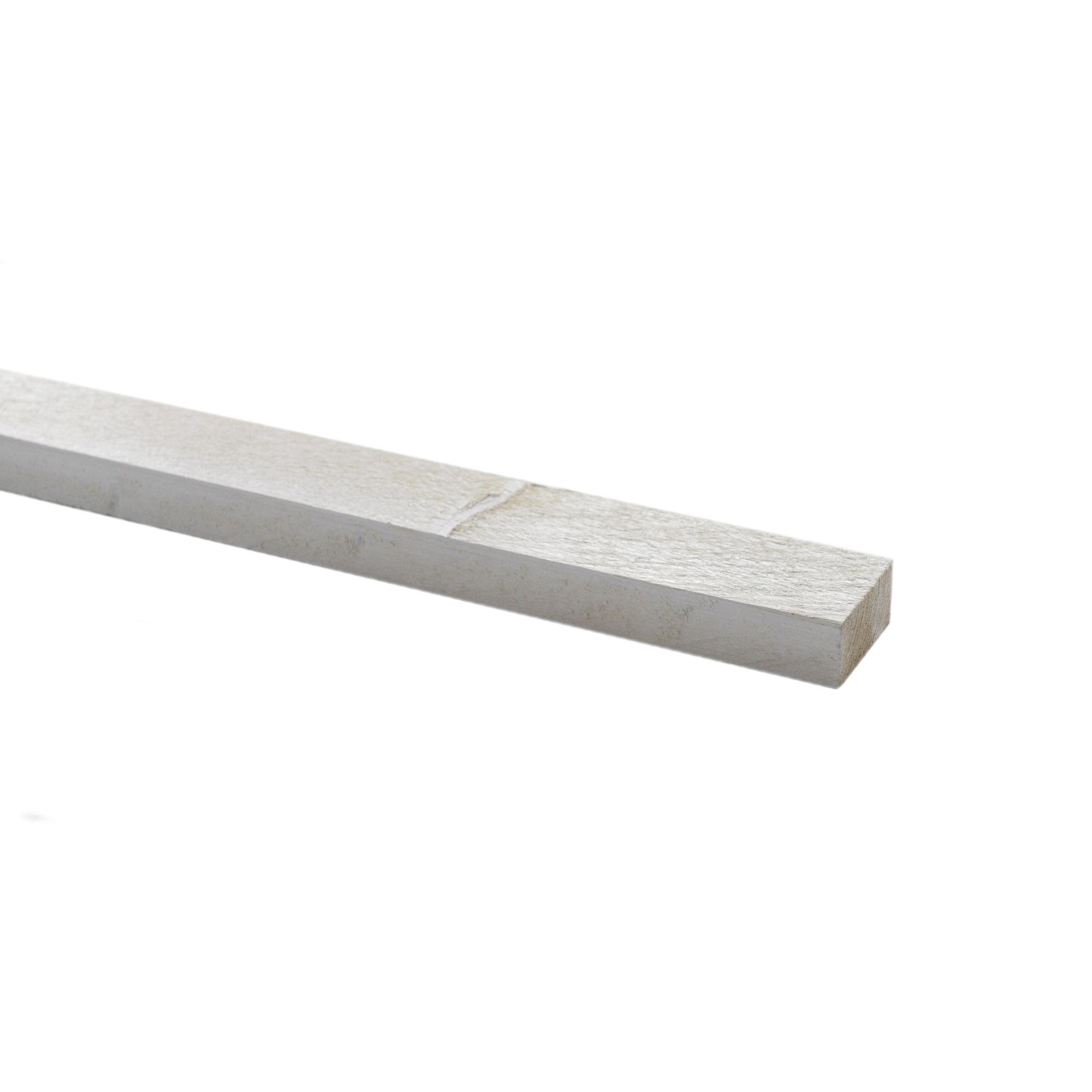 Steigerhouten lat geborsteld ca. 30x62 mm, lengte 250 cm wit