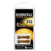 Duracell batterij gehoorapparaat 312 6 stuks