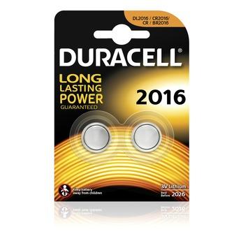 Duracell Batterij CR2016 Lithium-knoopcelbatterij 3V 2 stuks
