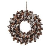 Kerstkrans bruin Ø35,5x8,5cm